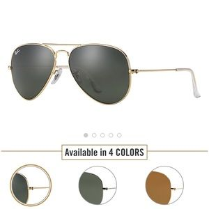 Ray-Ban Accessories - NEW Ray-Ban Aviator Classic Sunglasses Gold/Green